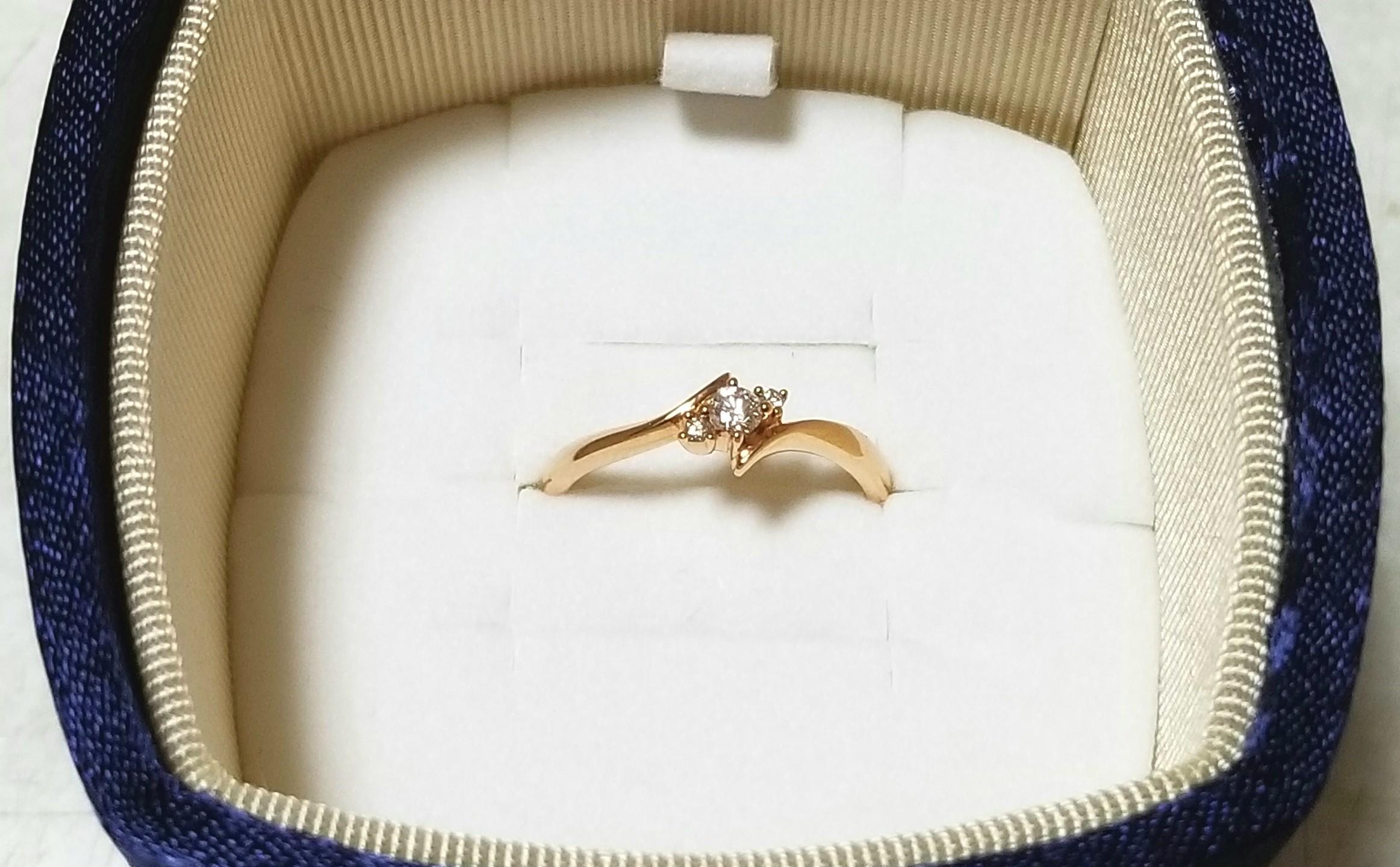 ダイヤモンド,指輪,4℃,ピンクゴールド,18金,誕生日プレゼント