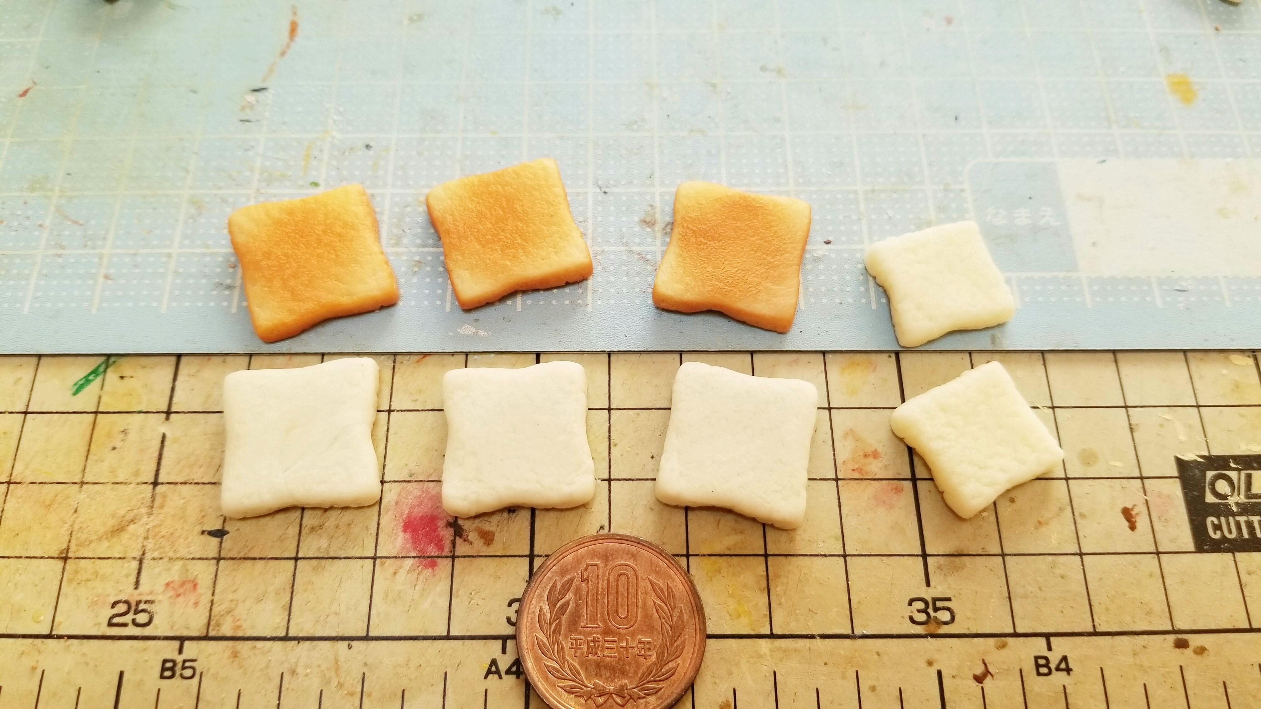 ミニチュアフード食パントーストの作り方樹脂粘土自作アート作品小物
