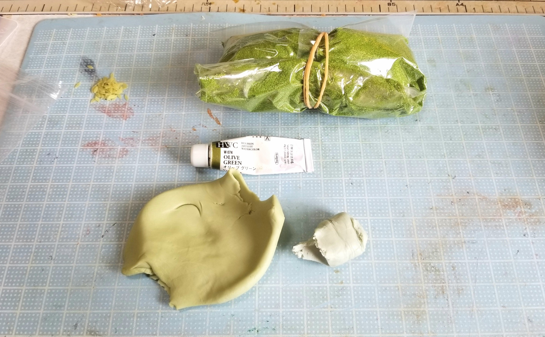 ミニチュアフード,焼き大福,餅,和菓子,作り方,樹脂粘土,ハンドメイド