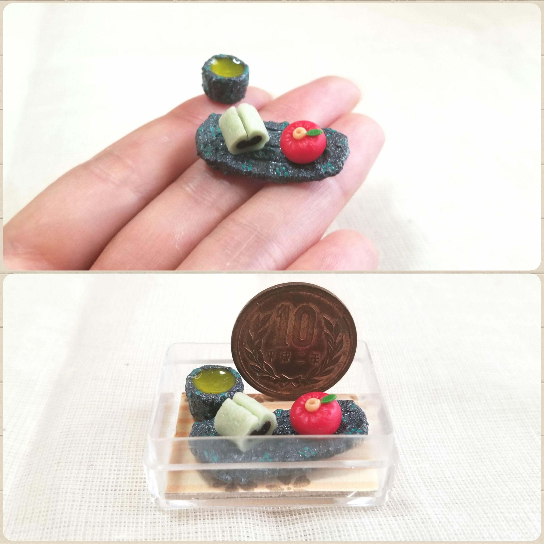 ミニチュア,和菓子,オビツろいど,刀剣男士,あまむす,とうらぶ,粘土