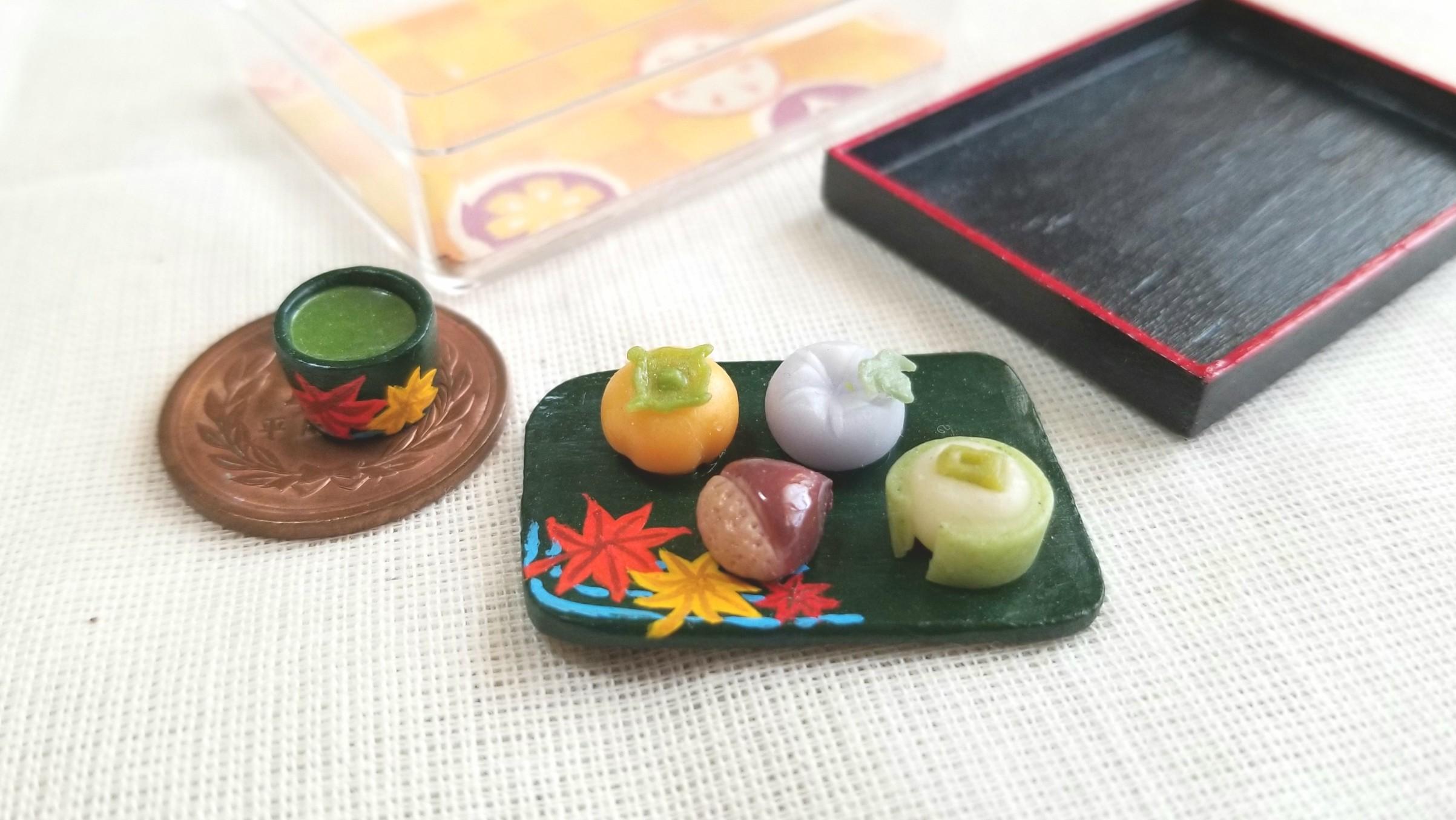 和菓子,柿,朝顔,栗饅頭,まんじゅう,綺麗,紅葉,小さい,美味しい,季節