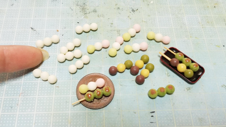 ミニチュアフード作り方樹脂粘土花見お団子和菓子おすすめブログ人気