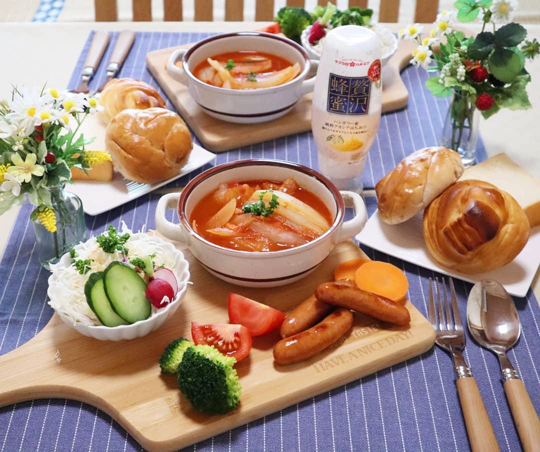 美味しいもの日記,理想の朝ご飯,モーニングセット,豪華,ボルシチ料理
