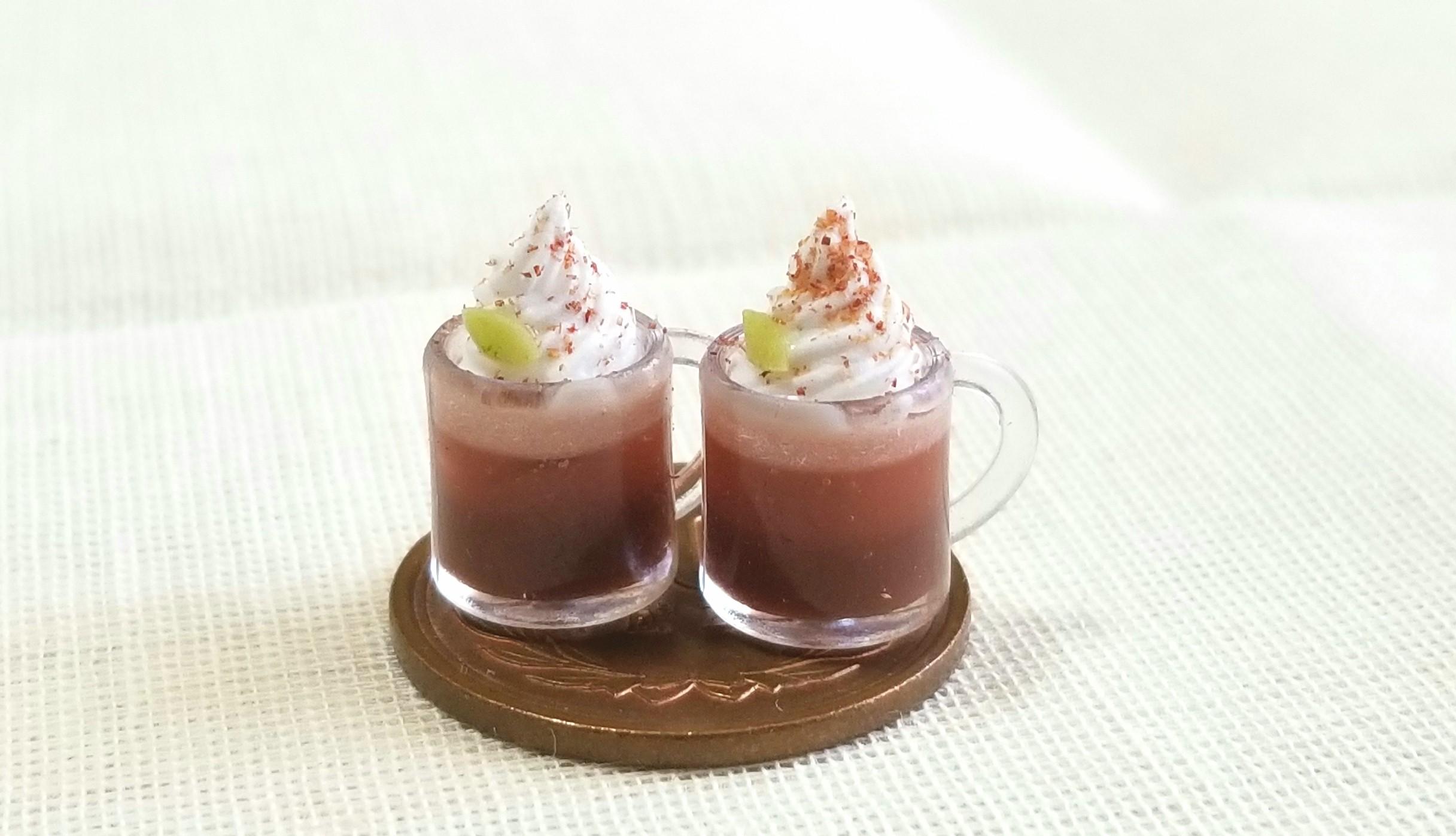 ココアフロート,生クリーム,ミンネ,UVレジン,ホイップ粘土,ドール