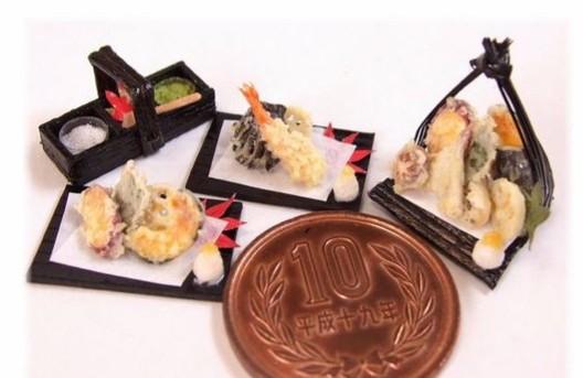 ミニチュアフードおすすめ,樹脂粘土,リアル,本物みたい,天ぷら懐石