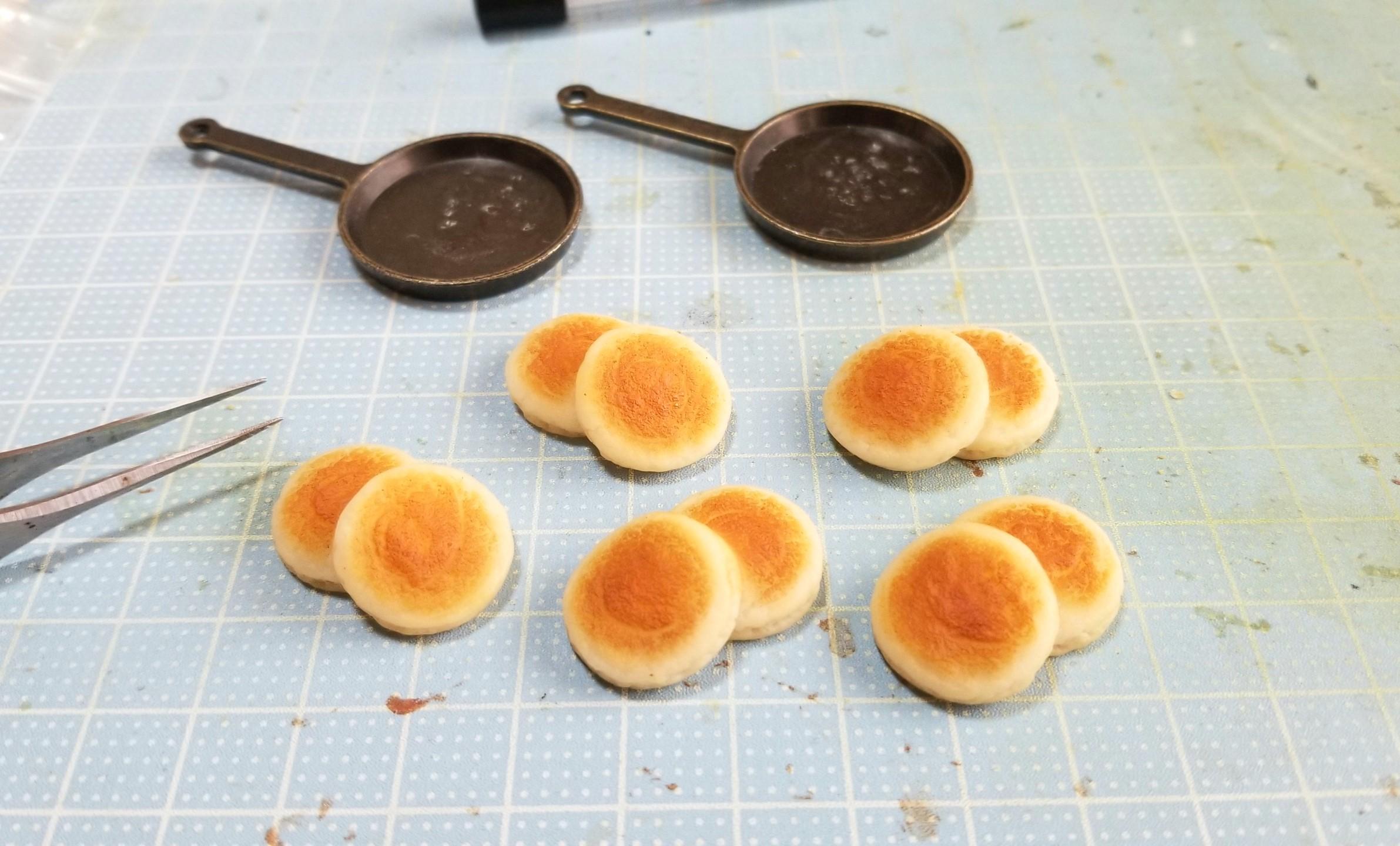 ミニチュアフード,ホットケーキの作り方,樹脂粘土,食品サンプル