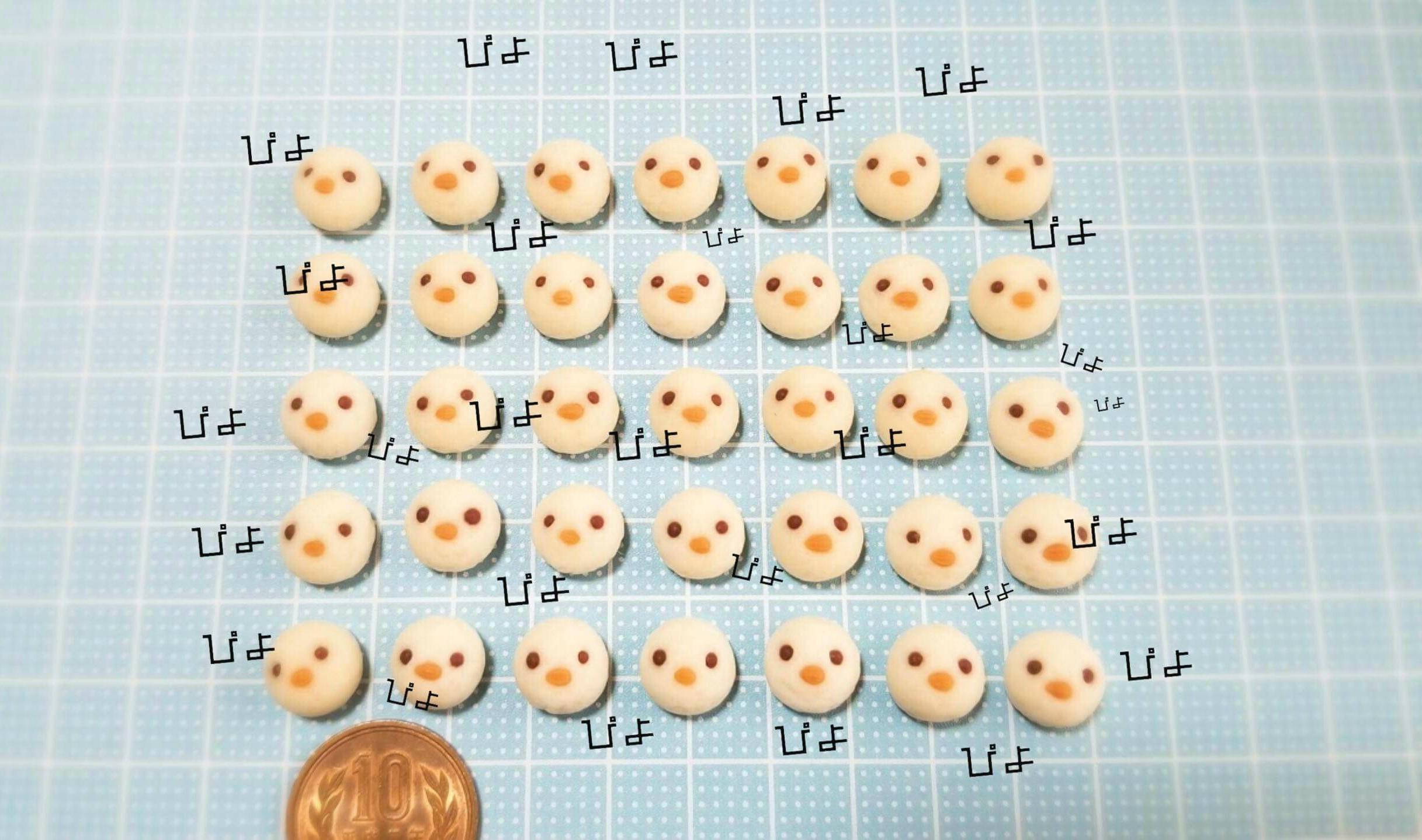 ひよこパン,作り方,ミニチュアフード,樹脂粘土,フェイクフード,人形
