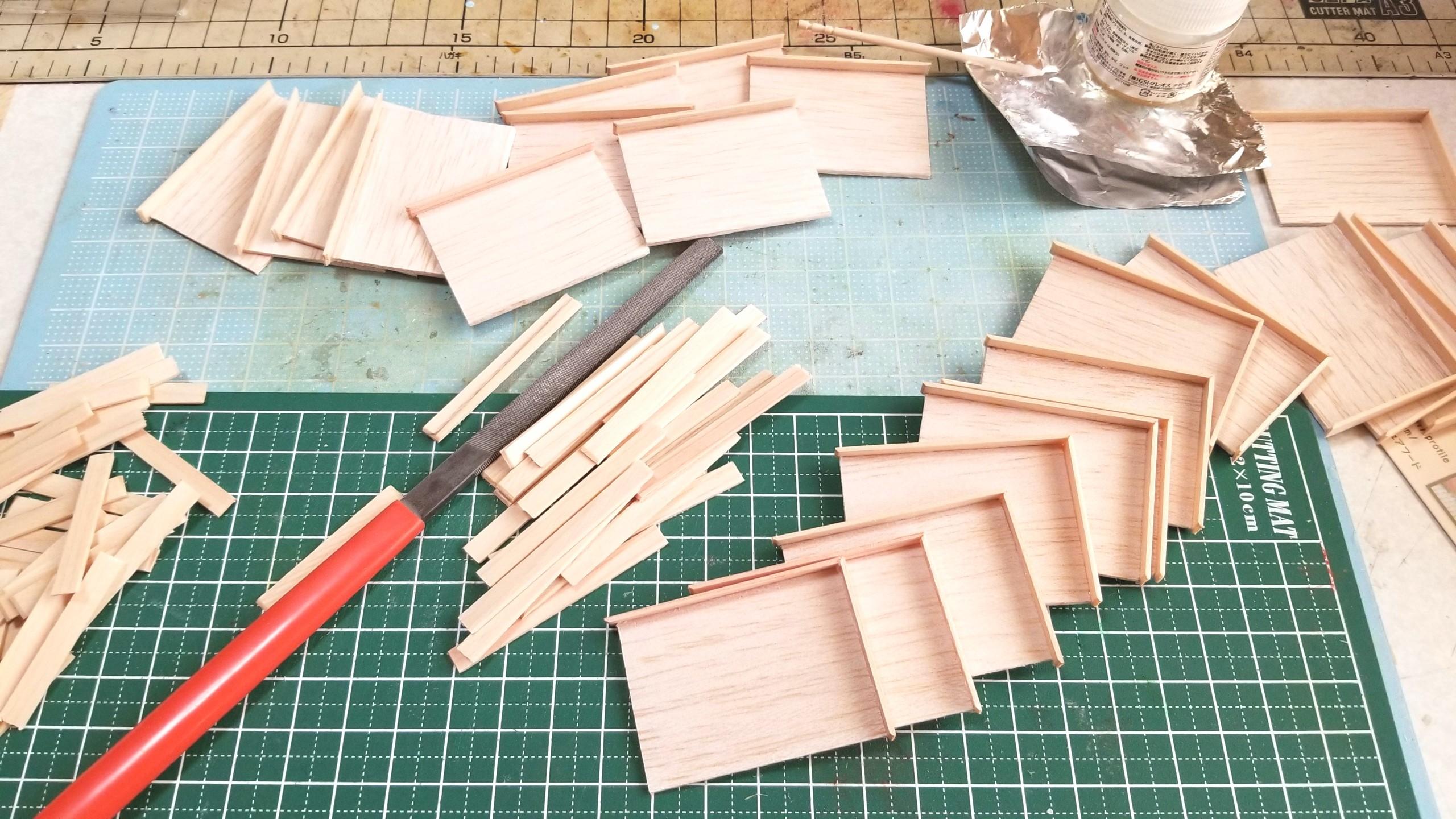 おぼん,作り方,ミニチュア,ひのき,桧,木材,木工作業,ドールハウス