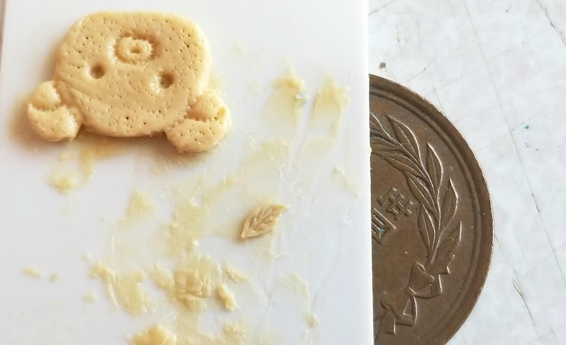 ミニチュアフード,エポキシパテ,原型,作り方,和菓子,樹脂粘土