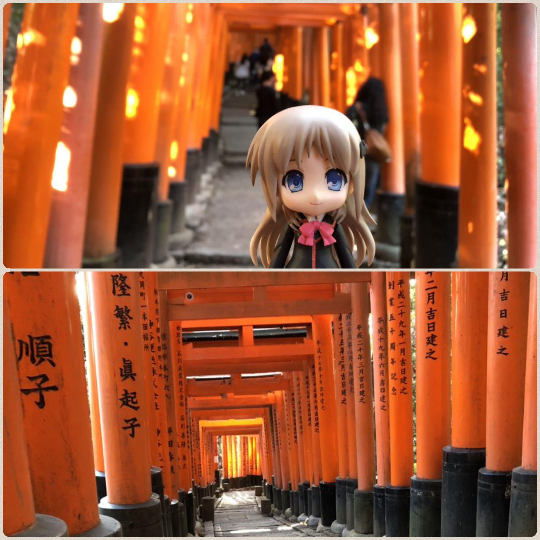 キューッポッシュ,ねんどろいど,神社を散策,赤い綺麗な鳥居,和風