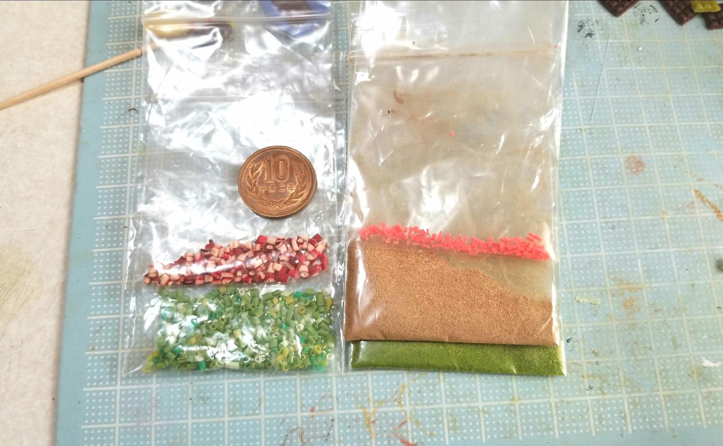 たこ焼き,作り方,ミニチュア,樹脂粘土,ドールハウス,薬味,サンプル
