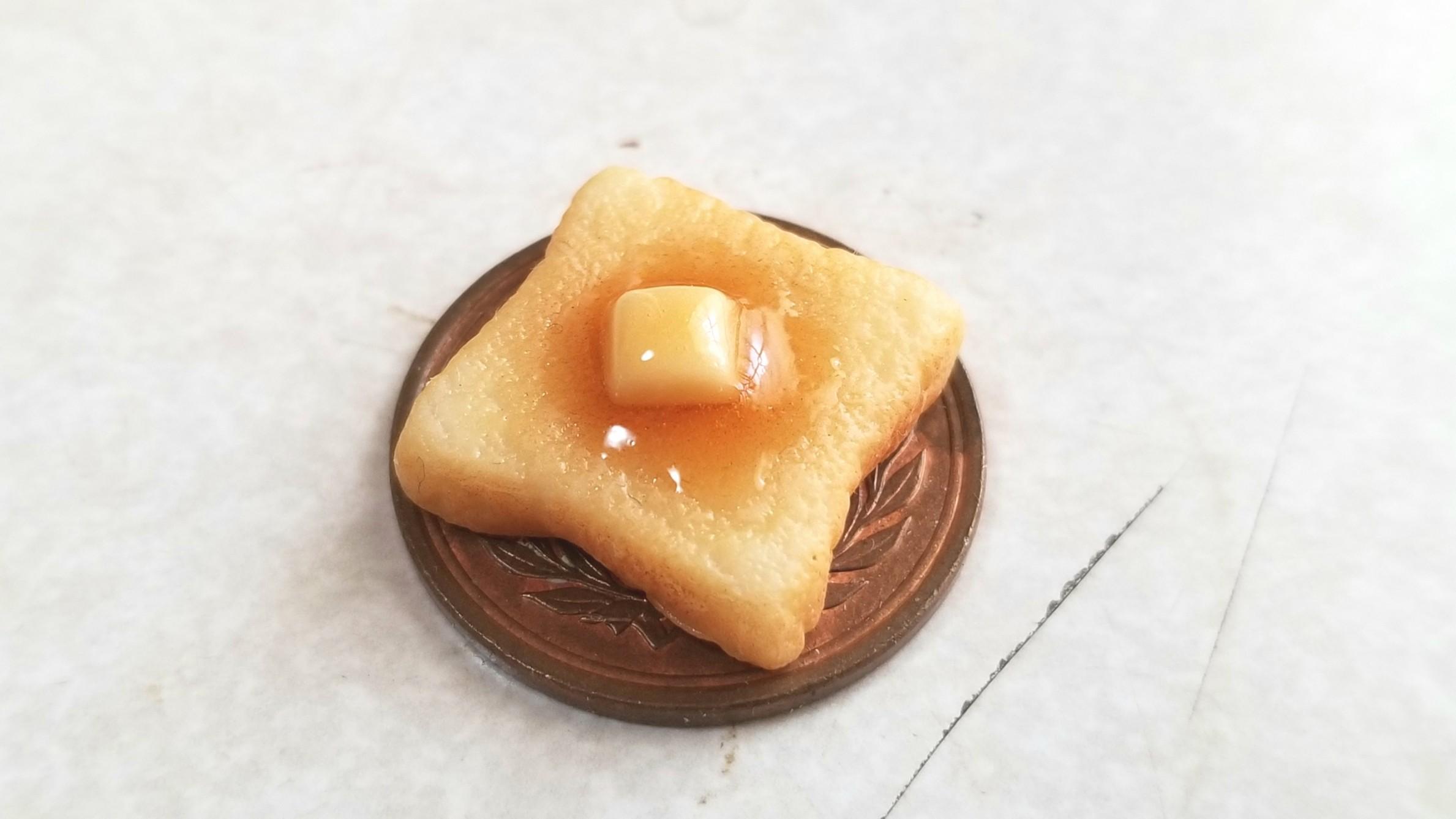 ミニチュアフードバタートーストパン,樹脂粘土,ミンネ人気商品販売