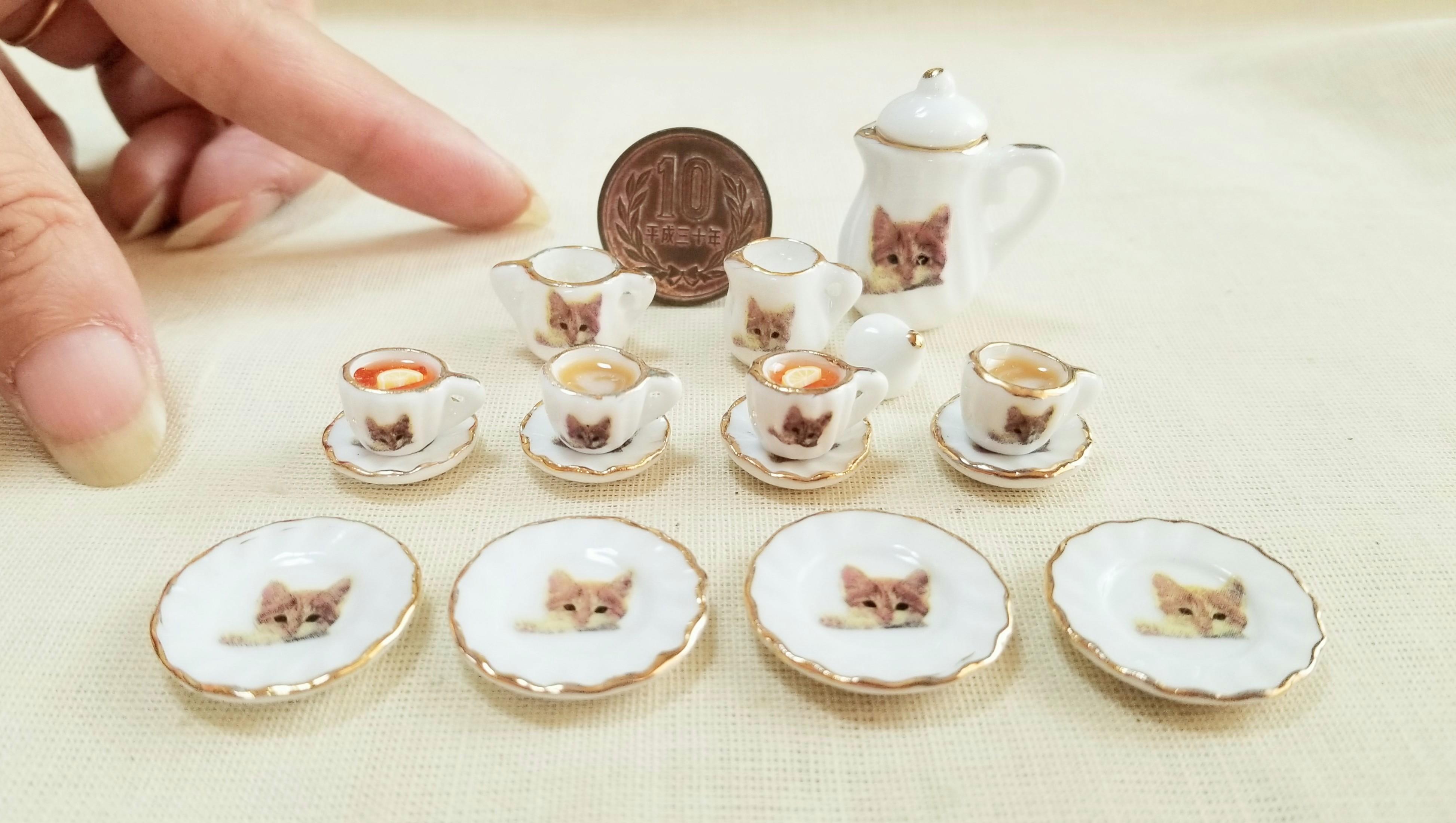 ミニチュアフード陶器ティーカップセット可愛いおすすめドール用小物