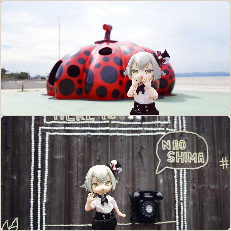可愛ドールとオーナー,日本旅行,広島県,大きなてんとう虫,楽しかった