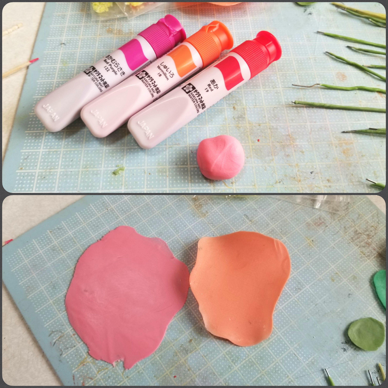 紅しょうが,たこ焼き具材,作り方,樹脂粘土,ミニチュアフード,手作り