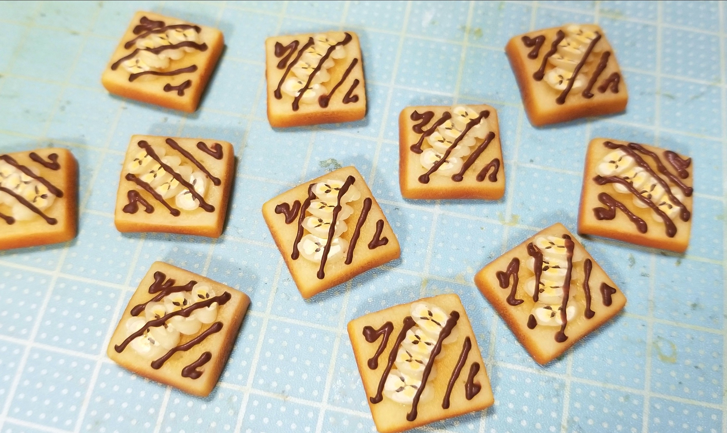 ミニチュアフード,チョコバナナトースト,食パン,作り方,食品