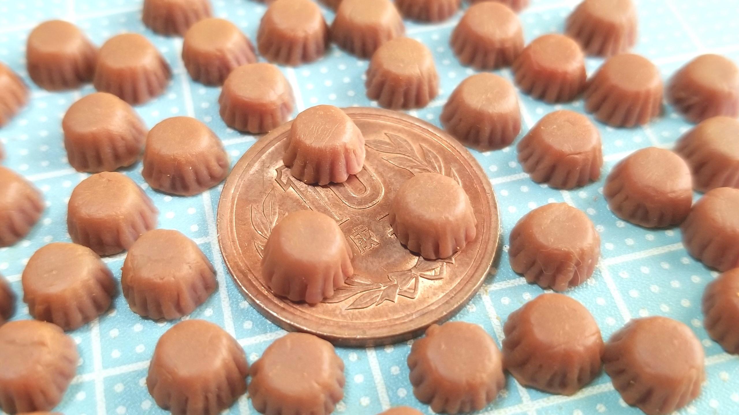 チョコレートカップケーキ,作り方,ミニチュアフード,ドールハウス