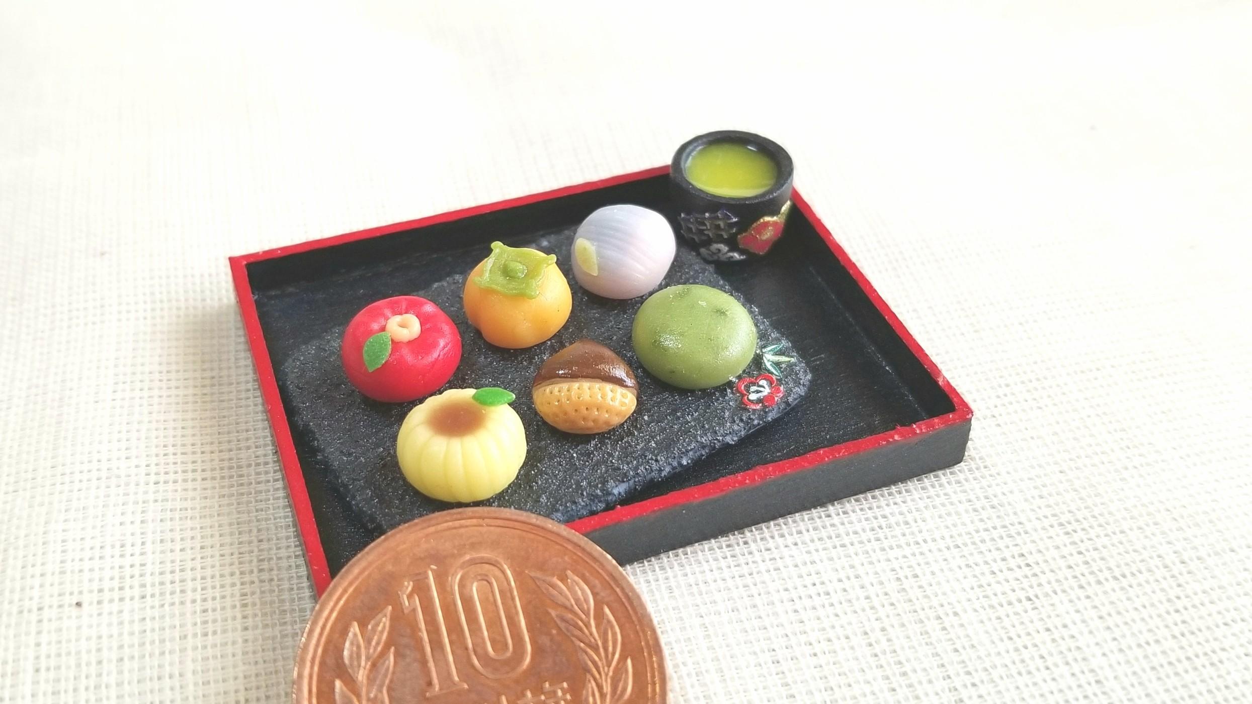 ミニチュア和菓子,樹脂粘土,かわいいドール小物,おもちゃ雑貨,人気
