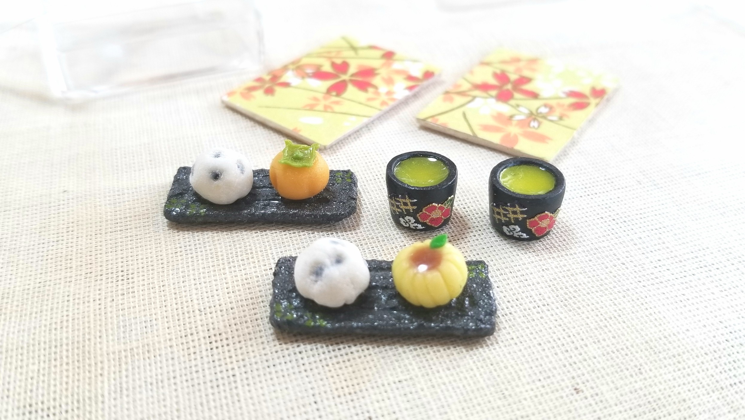 ミニチュアフード和菓子生菓子,樹脂粘土,かわいいおすすめブログ