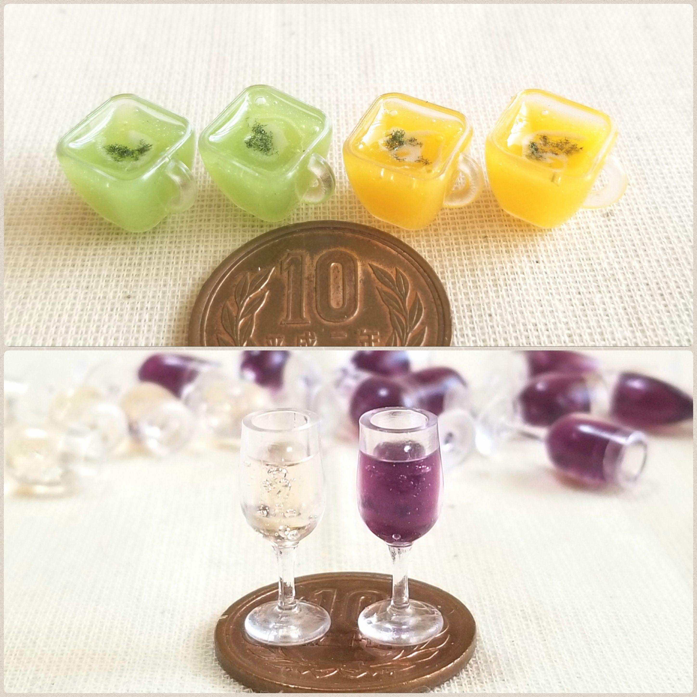 ミンネで割引き販売中,ミニチュアスープ,ワイン,ドール小物おもちゃ