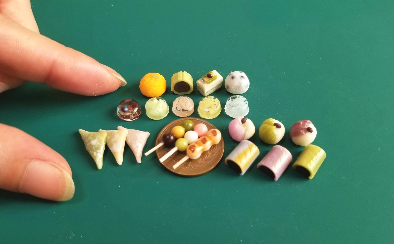 ミニチュアフード,和菓子,生菓子,上菓子,樹脂粘土,食品サンプル