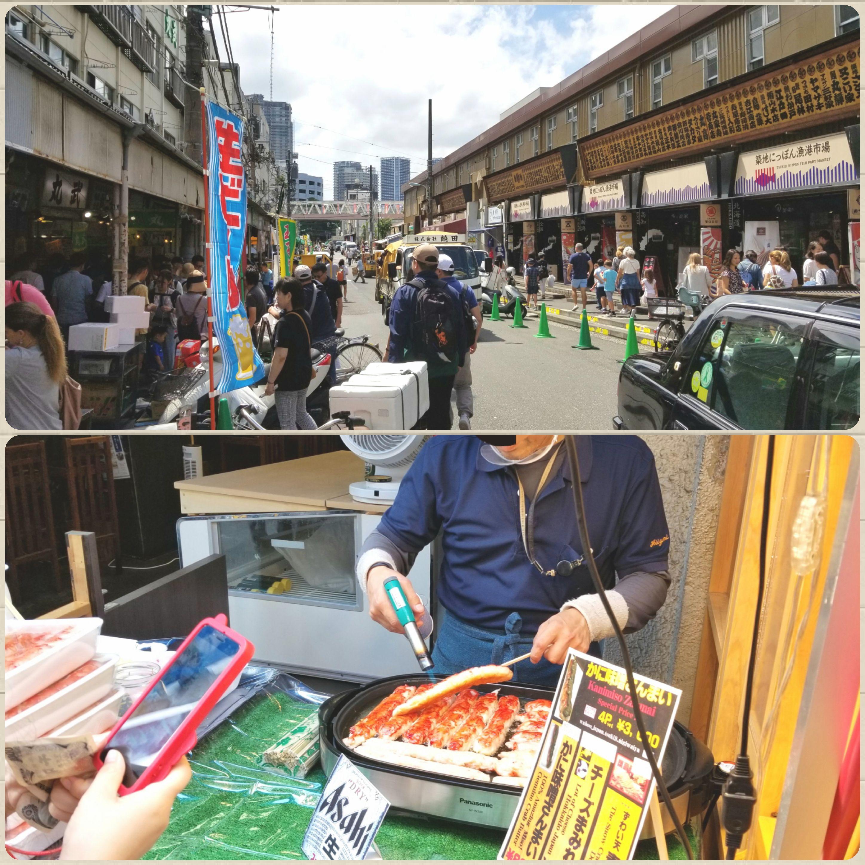 東京都中央区,築地,新鮮で安くて美味しい海鮮,蟹,旅行,観光,ぶらり旅