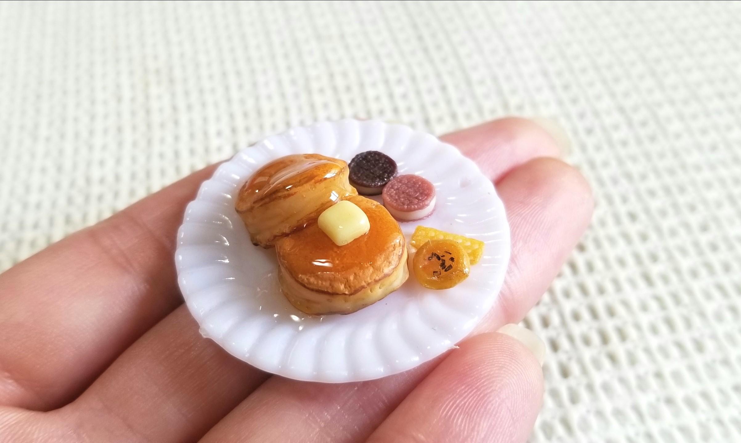 ホットケーキの作り方,ミニチュア,樹脂粘土,食品サンプル,ドール