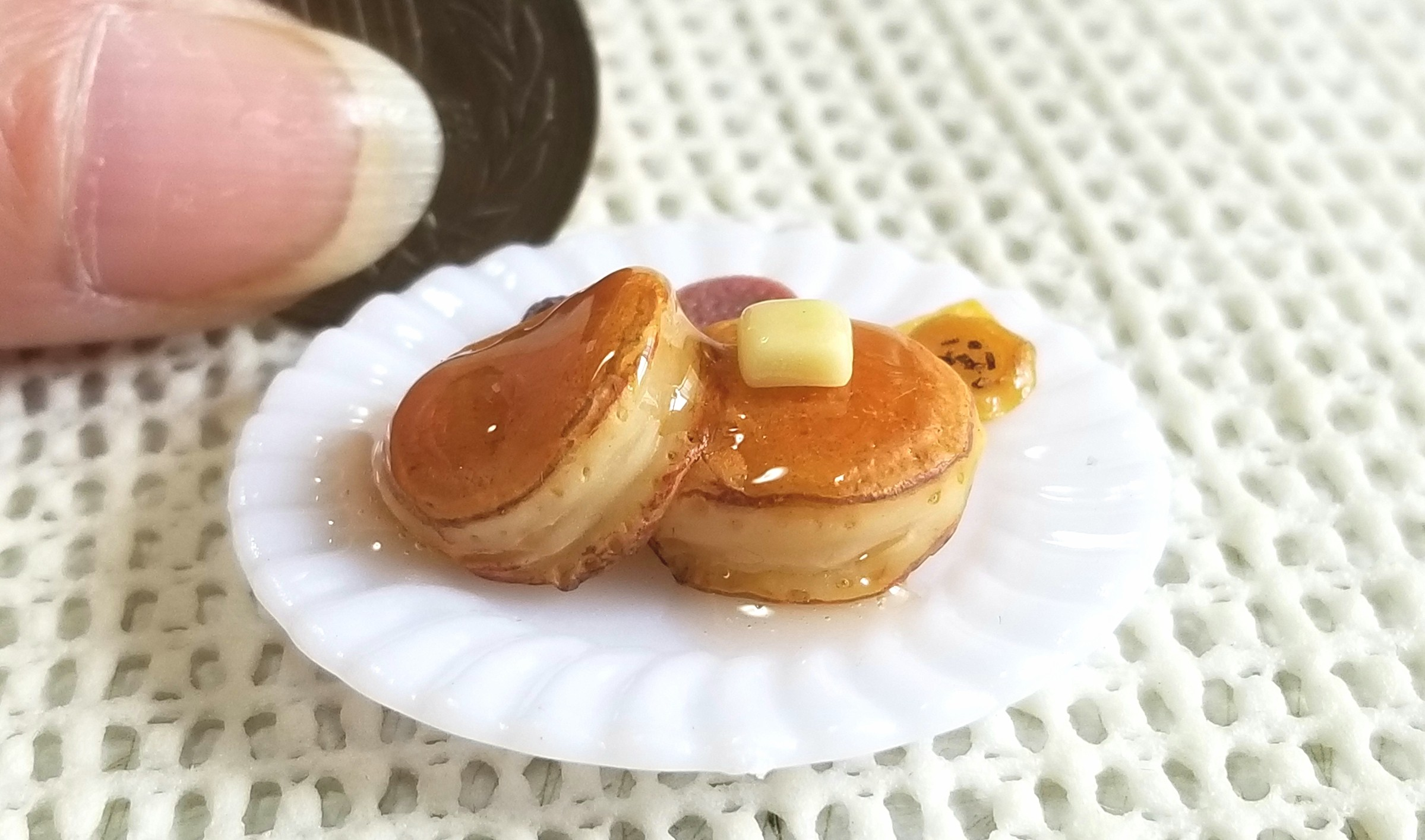 ホットケーキ,ミニチュアフード,パンケーキ,樹脂粘土,食品サンプル