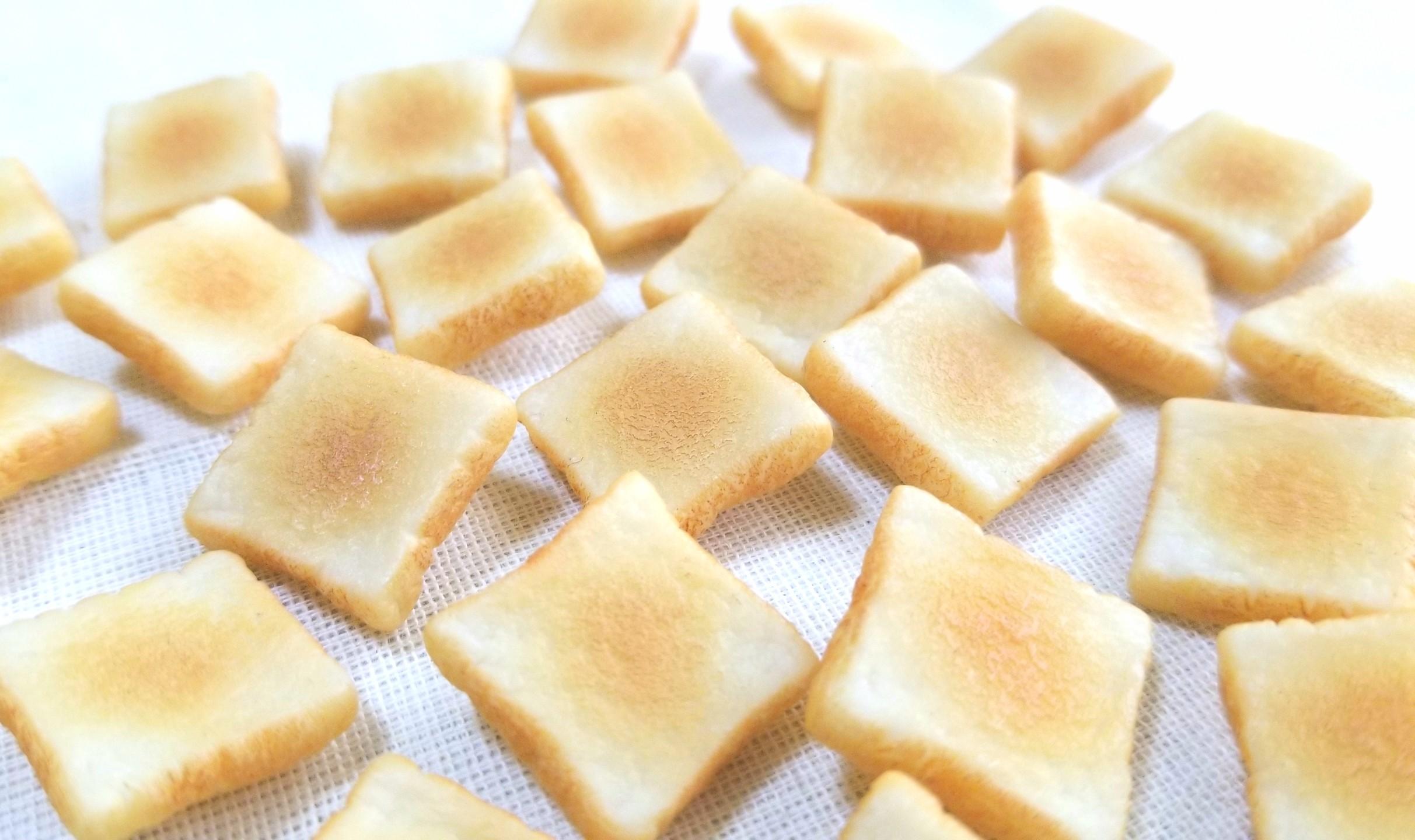 バタートースト,ミニチュアフード,食パン,樹脂粘土,食品サンプル
