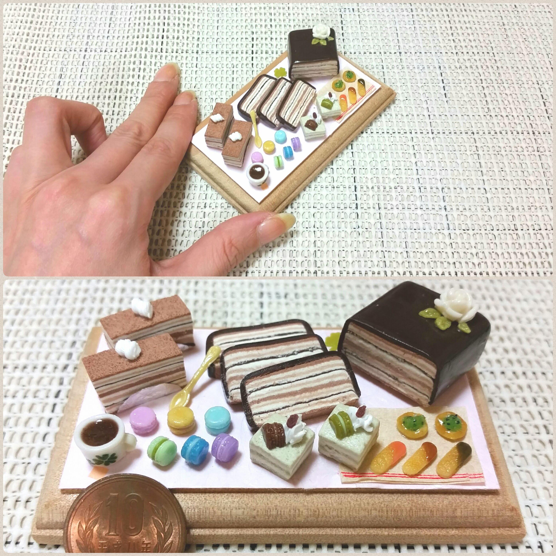 ミニチュアフード,ケーキ,マカロン,クッキー,お菓子,おもちゃ,ブログ