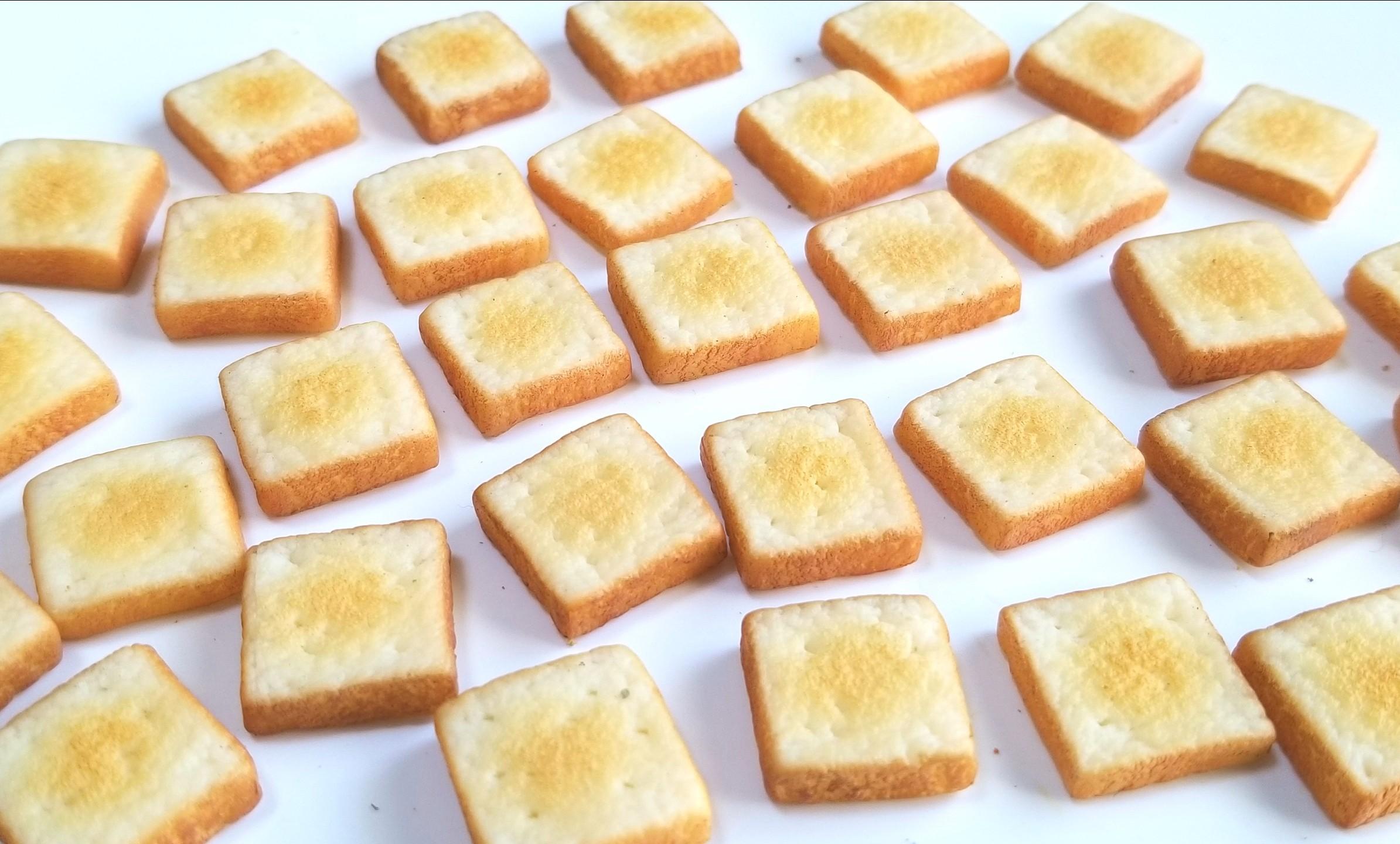 ミニチュアフード,食パン,トースト,作り方,樹脂粘土,食品サンプル