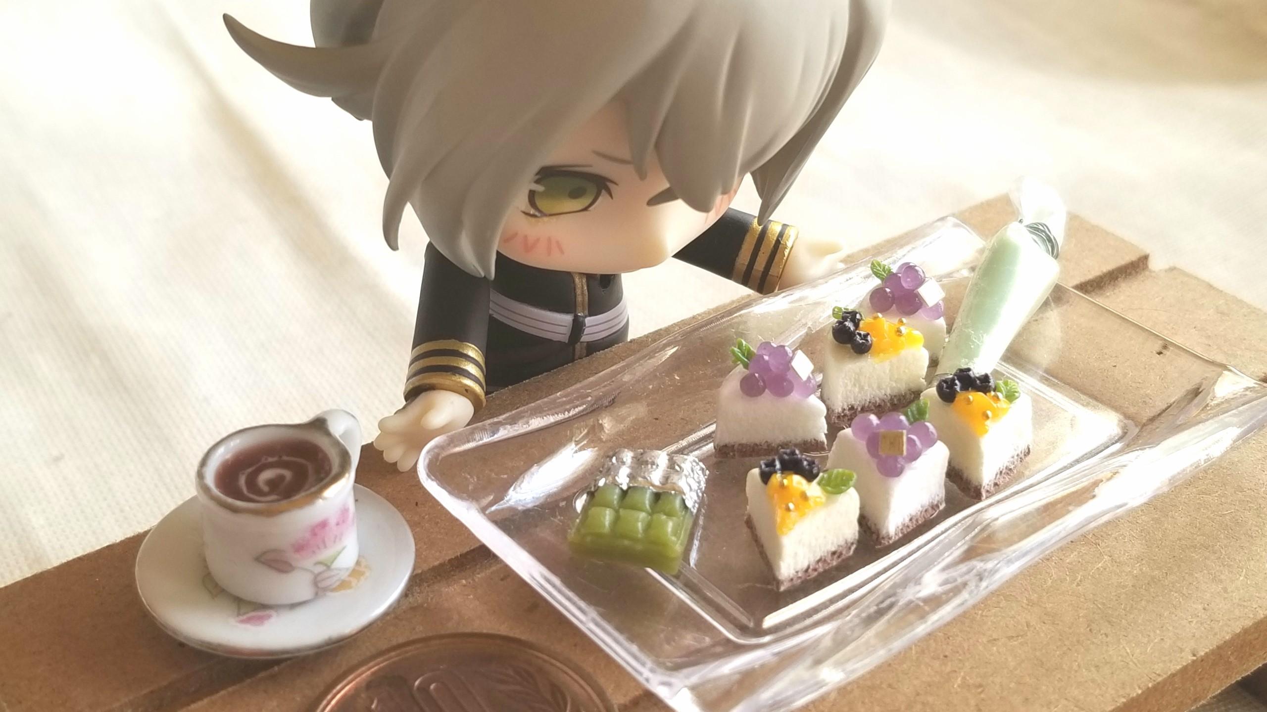 ミニチュアフード,aki工房,ショートケーキ,ねんどろ刀剣男士蛍丸