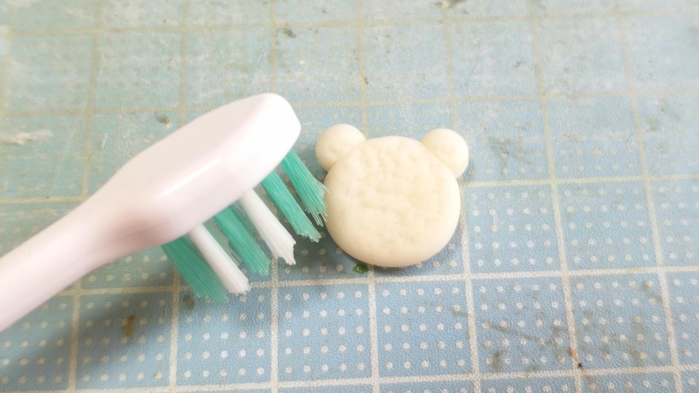 ミニチュアフード,樹脂粘土,クマちゃんホットケーキの作り方,ドール
