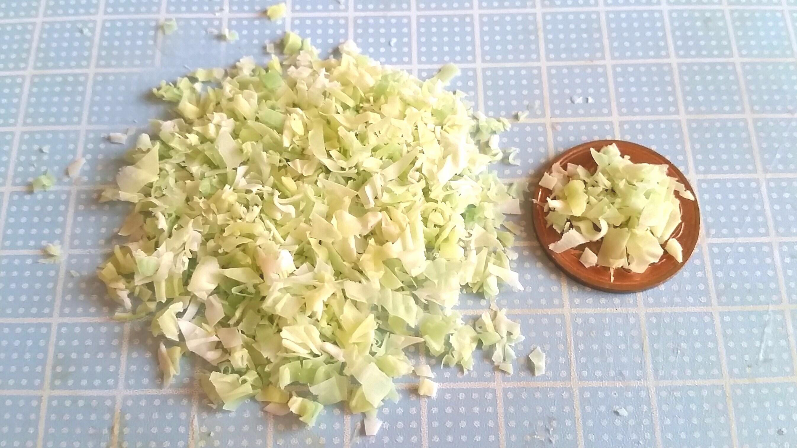 ミニチュアフード,キャベツの作り方,樹脂粘土,おすすめ,よもぎブログ