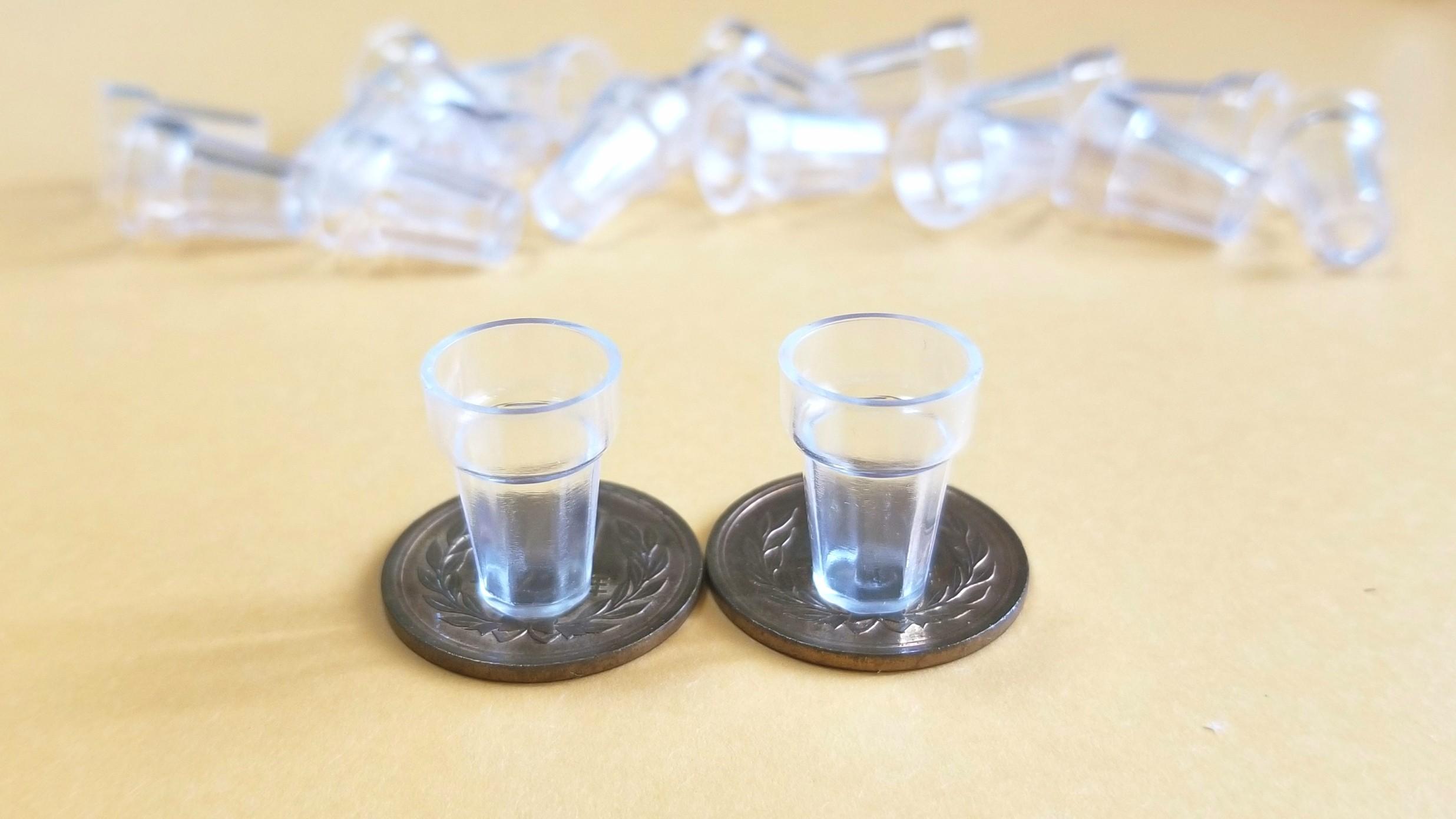 ミニチュアフード用の可愛い透明グラス,コップ,カップ,既製品購入