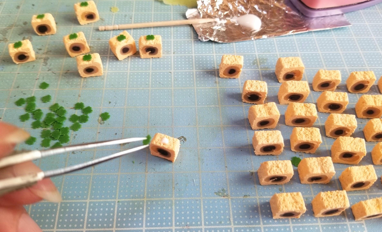 ミニチュアフード,和菓子,柿,秋,作り方,樹脂粘土,フェイクフード