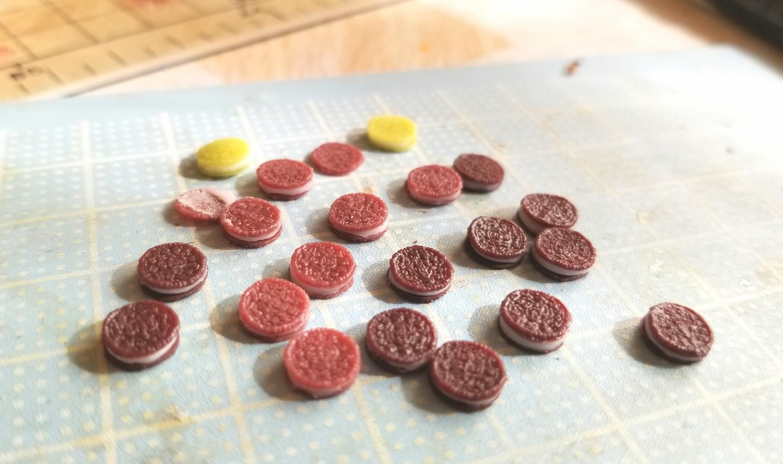 ミニチュア, オレオ製作, 樹脂粘土, 失敗作, 食品サンプル