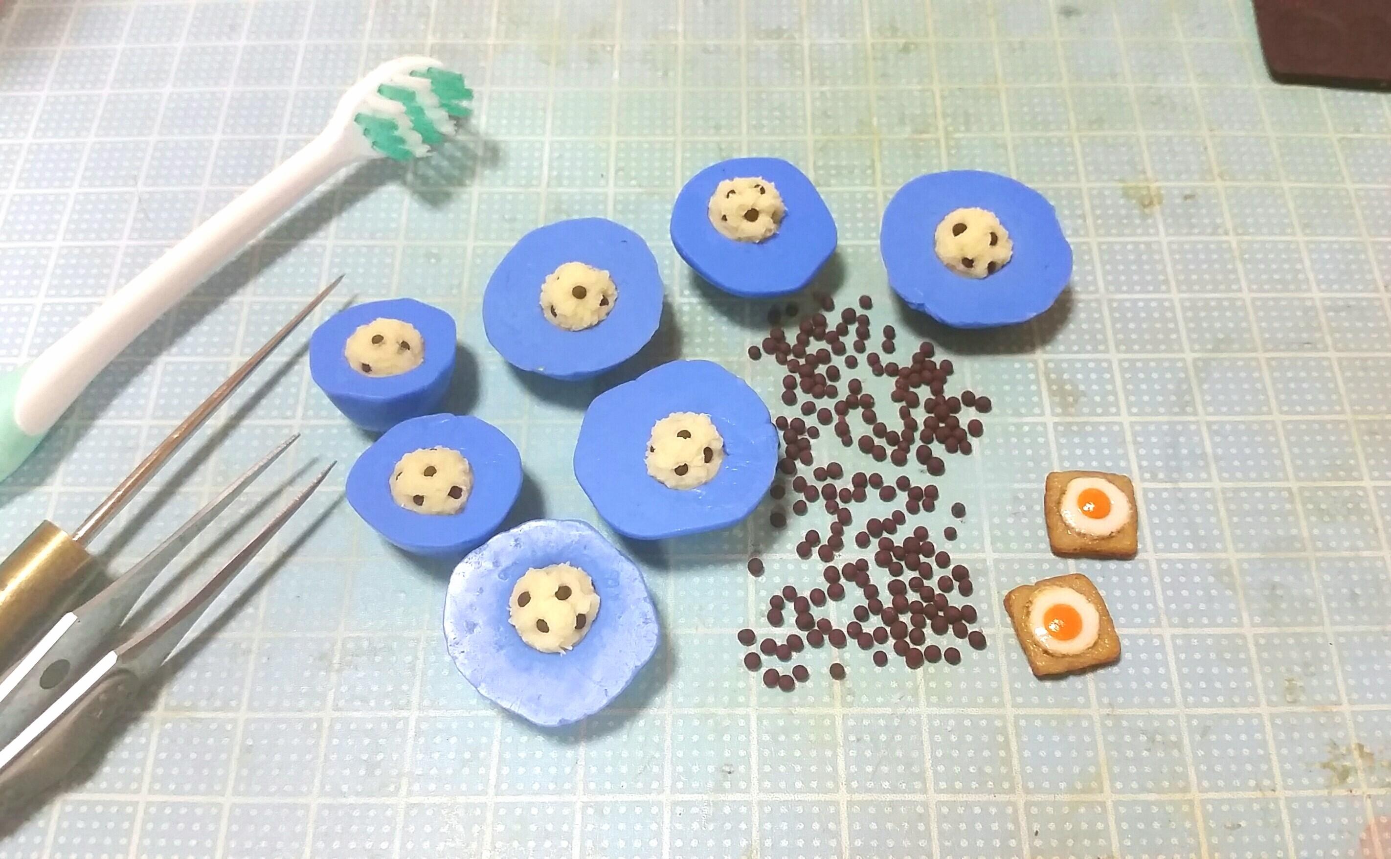 ミニチュアフード,カップケーキマフィン,樹脂粘土,まとめ画像,自作
