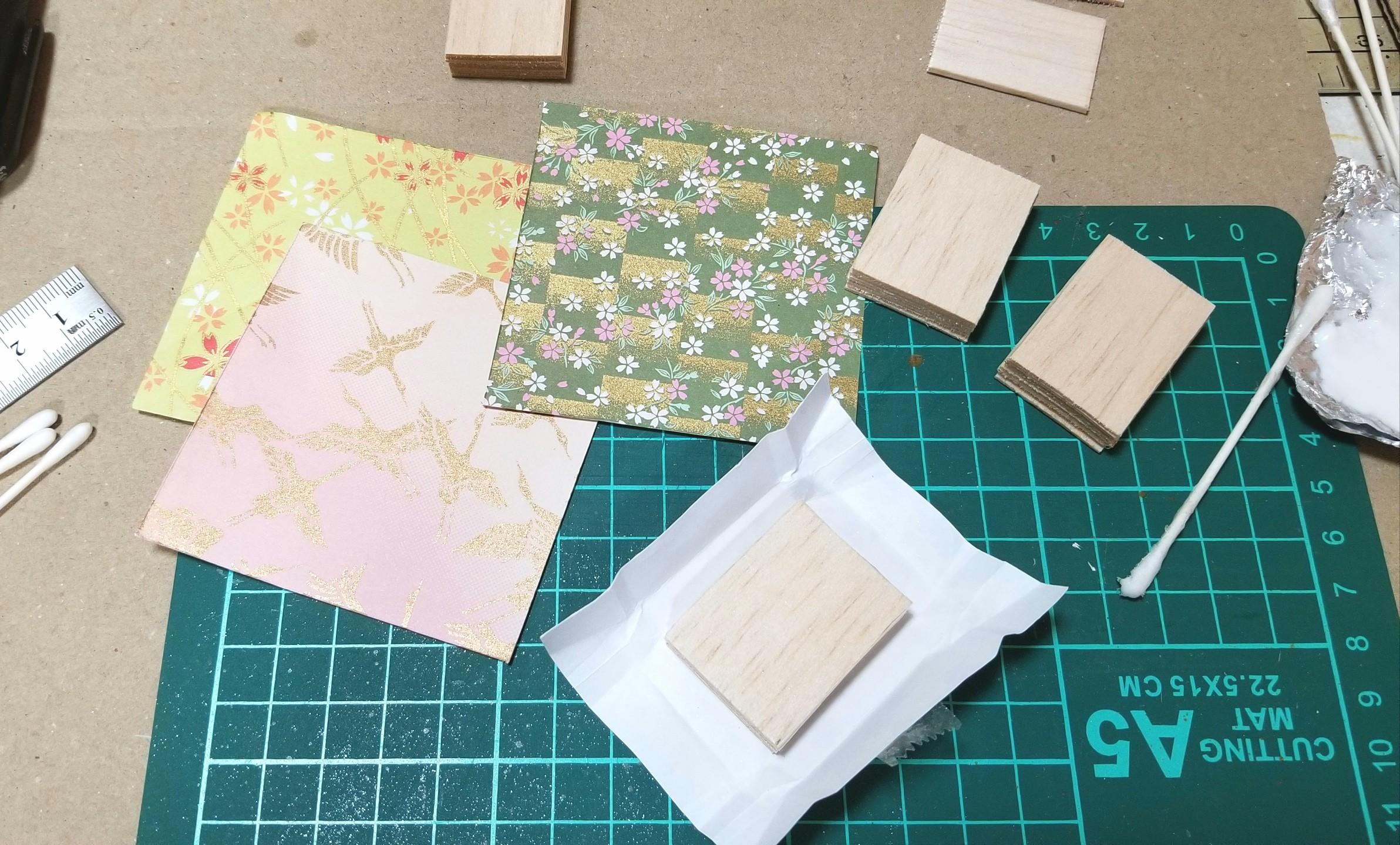 ミニチュアフード,菓子箱,和菓子屋,千代紙,折り紙,作り方,ドール,桧