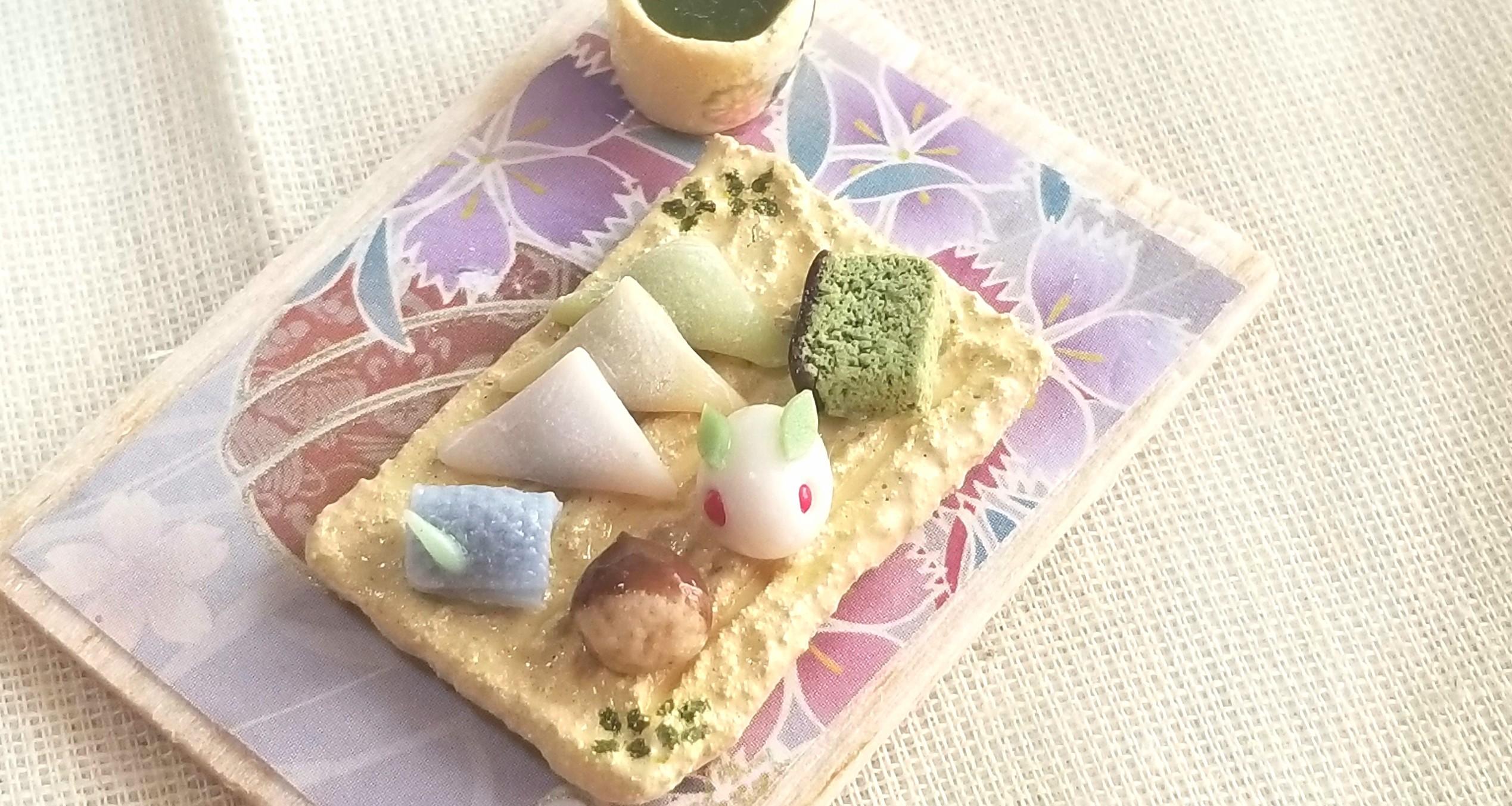 生菓子,和菓子,ミニチュア,オビツろいど,キューポッシュ,ドール,人形