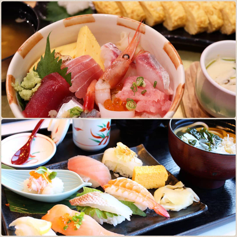 外食,美味しそう,握り寿司,海鮮丼,だし巻きたまご,玉子,豪華