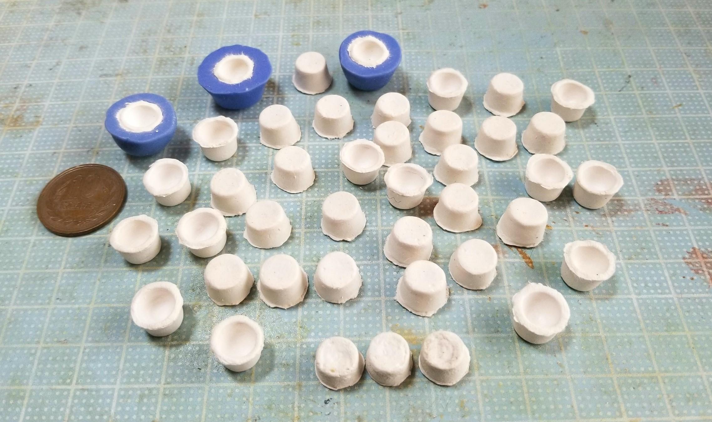 陶器風,お抹茶,ミニチュアフード,作り方,石塑粘土,ドールハウス,樹脂