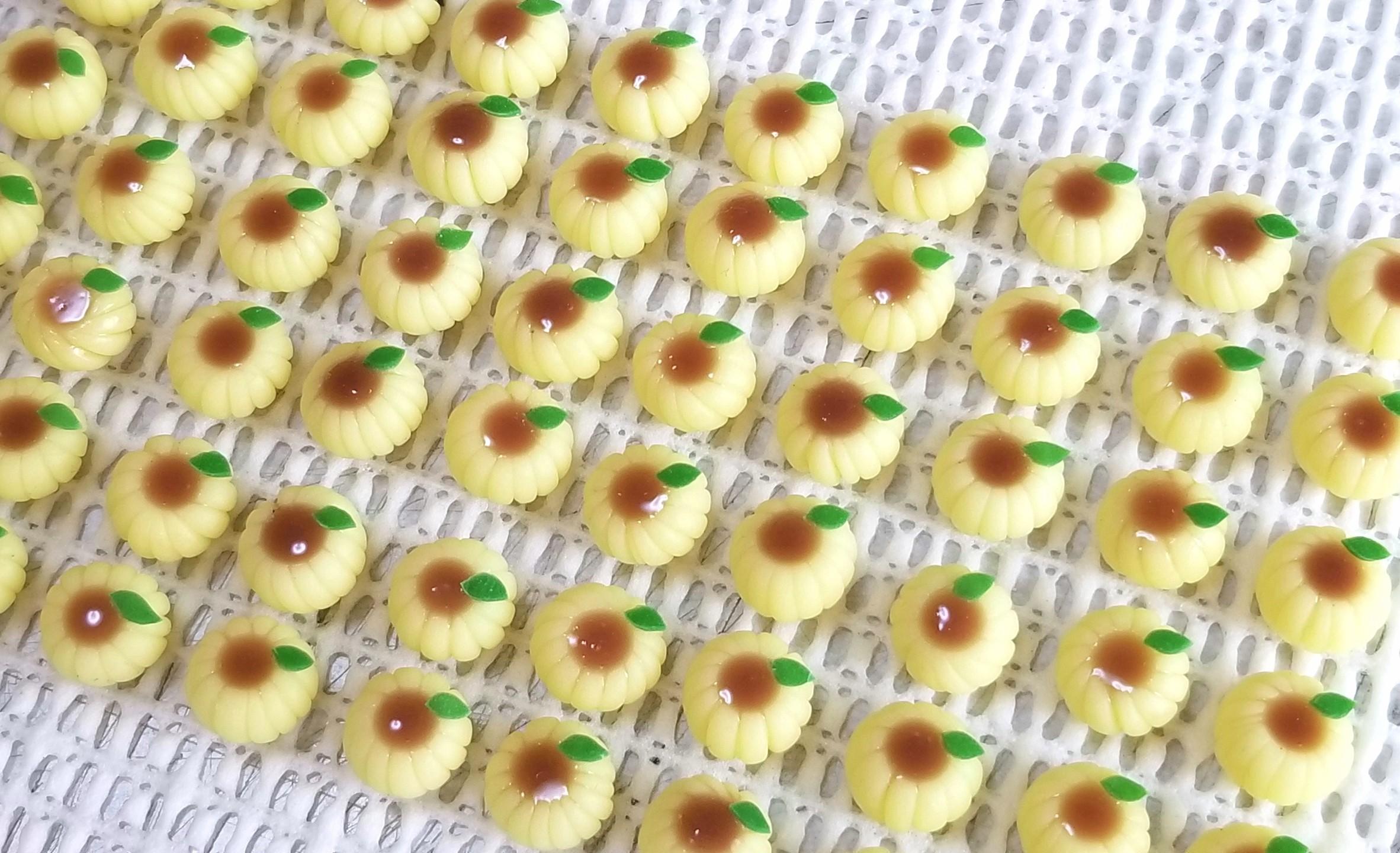 ミニチュアフード,ひまわり,和菓子,練りきり,樹脂粘土,プーリップ系