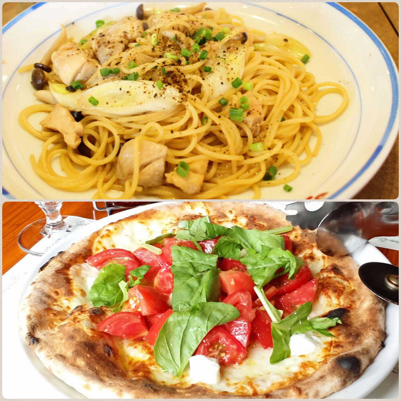 外食,美味しそう,シーフードスパゲティー,クリームパスタ,ピザマルゲ