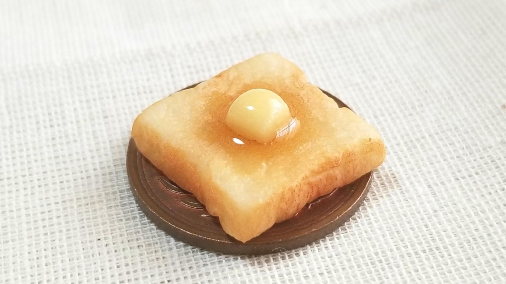 ミニチュアバタートースト,ミンネで販売中,樹脂粘土,ドール用小物