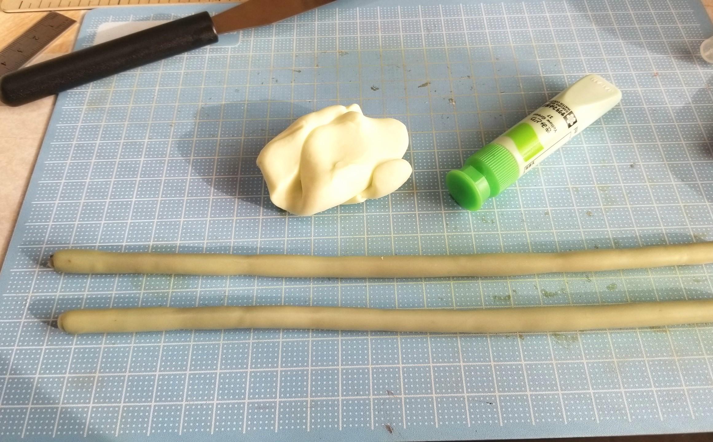 ミニチュアフード,和菓子,餡ロール,あんこ,樹脂粘土,作り方