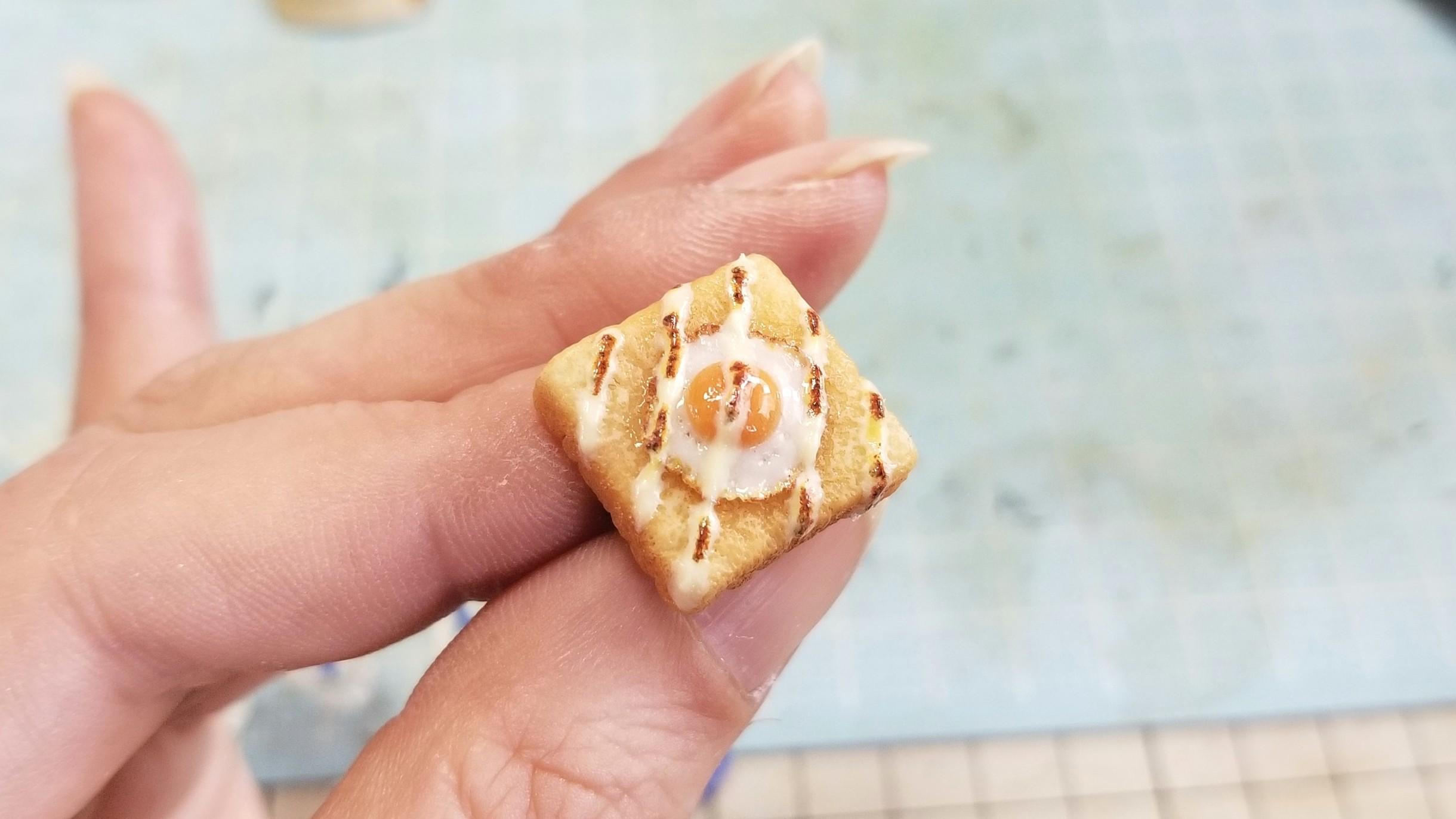 ミニチュアフードのラピュタパン,目玉焼きトースト,ハンドメイド小物