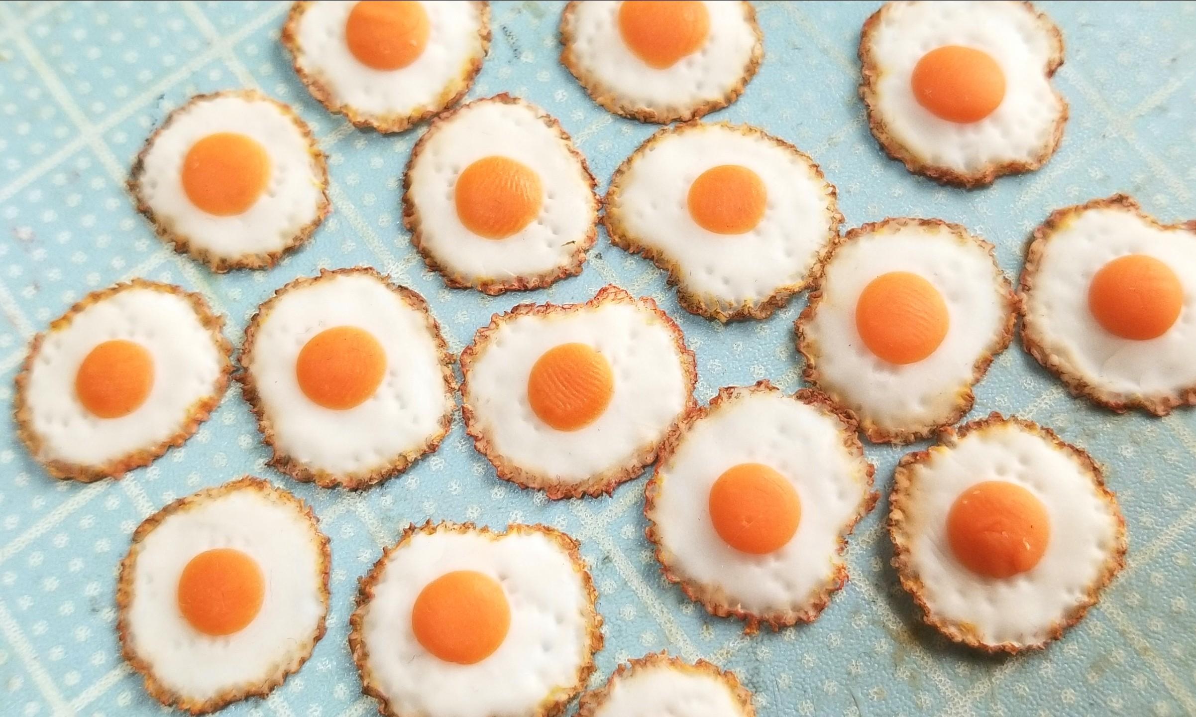 目玉焼き,作り方,キューポッシュ,ドールハウス,スウィーツドール