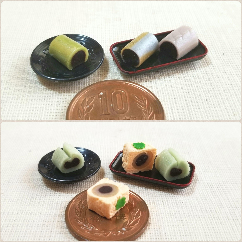 指先サイズ小物,餡,あんこ,ブロガーのミニチュアフード,和菓子屋