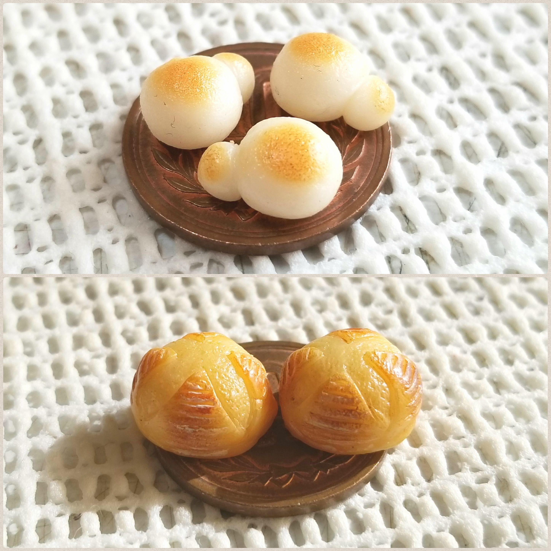 ミニチュアフードブログ,カンパーニュ小さいパン,ドール小物おもちゃ